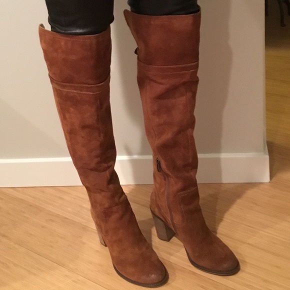 Franco Sarto Over The Knee Suede Boots